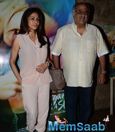 Sridevi And Hubby Boney Kapoor Present At The Screening Of Margarita With A Straw