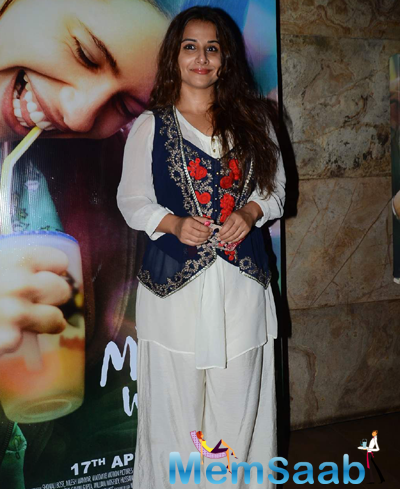 Vidya Balan Gorgeous Look During The Screening Of Margarita With A Straw