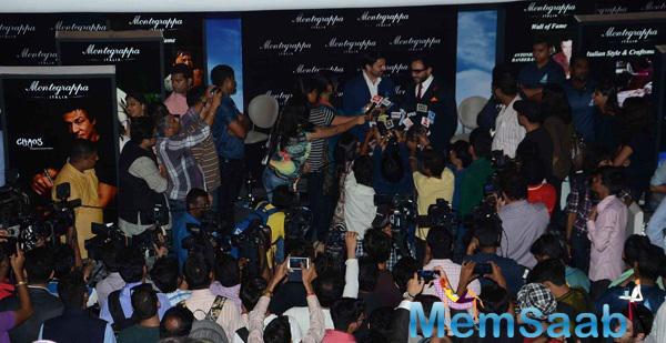 Saif Ali Khan Pressmeet Still During The Launch Of Montegrappa Italia Luxury Brand