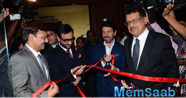 Saif Ali Khan Unveiled The Luxury Brand Montegrappa Italia's Flagship Store In Mumbai