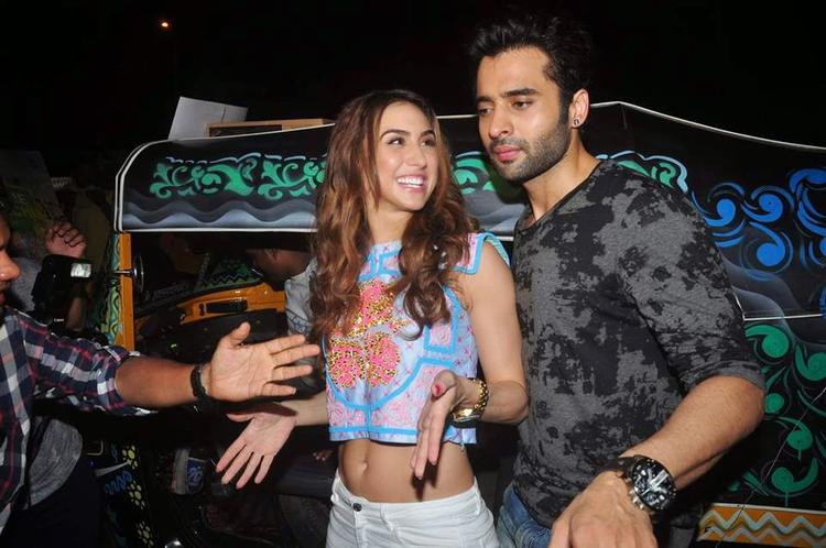 Jackky And Lauren Promotes Welcome To Karachi Movie