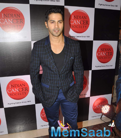 Varun Dhawan Spotted At Indian Cancer Society Event