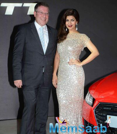 Nimrat Kaur Striking A Stunning Pose At Audi Race In RWITC