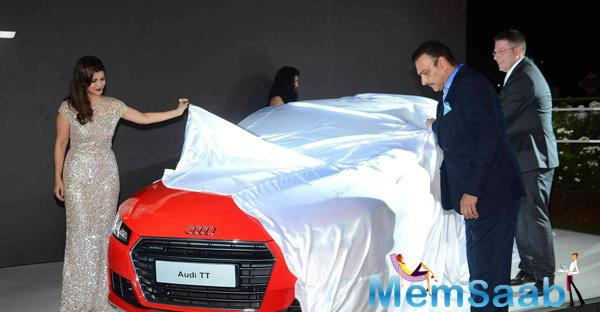 Ravi Shastri And Nimrat Kaur Launch New Audi TT  In RWITC