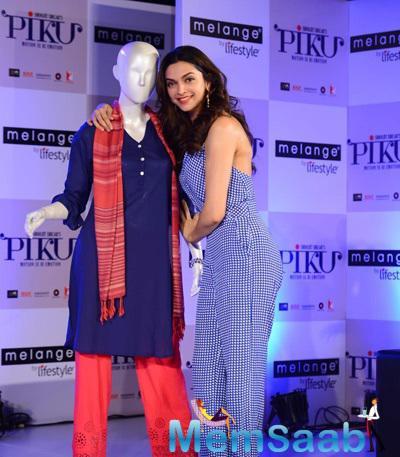 Deepika Padukone Promote Piku Melange Ethnic Wear