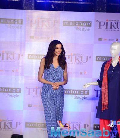 Deepika Padukone Unveils Piku Melange Ethnic Chic Look In Filmcity