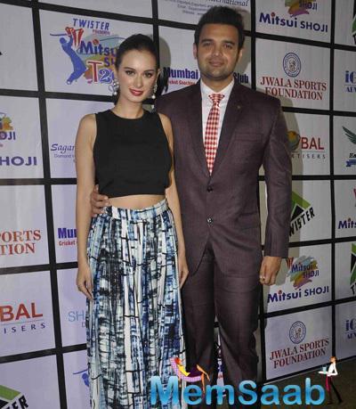 Evelyn Sharma And Mahaakshay Chakraborty Attend The Mitsui Shoji T20 Bash