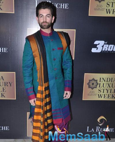 Neil Nitin Mukesh Traditional Look During India Luxury Week Meet 2015