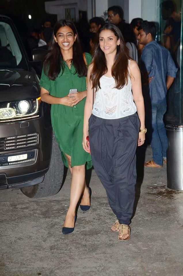 Aditi Rao Hydari And Radhika Apte Arrived The Screening Of Bombay Velvet