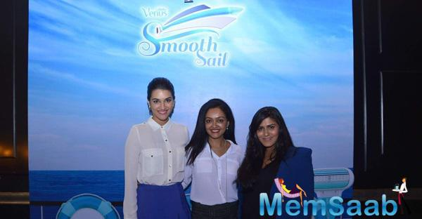 Kirti Sanon Posed During The Gillette Launch