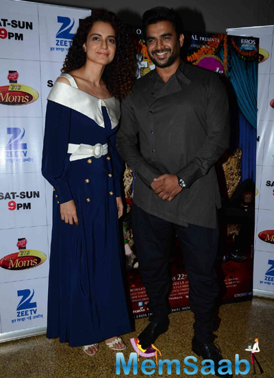 Kangana Ranaut And R. Madhavan Cool Pose For Camera On The Sets Of DID