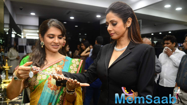 Shaina NC Shows Jewellers To Sridevi At Shaina Nc Collection Launch For Gehna