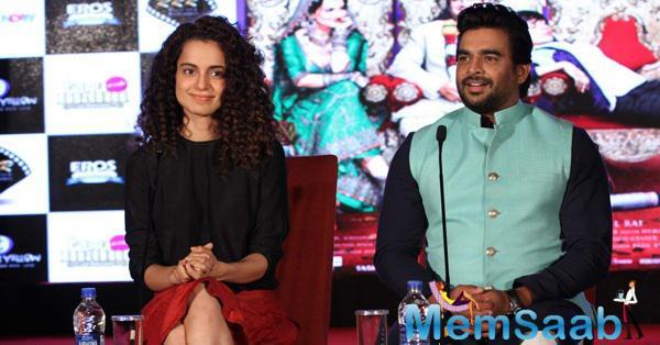 Kangana And R. Madhavan Interact With Press Meet At Tanu Weds Manu Returns Promotion