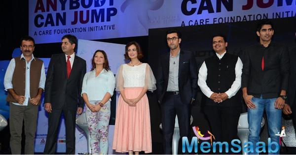 Rajkumar Hirani,Dia Mirza,Ranbir Kapoor,Devendra Fadnavis,Vijender Singh And Others Clicked At NDTV-Nirmal Lifestyle Marks For Sports Campaign
