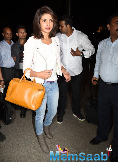 Priyanka Chopra Heads To New York For 'Quantico' Launch