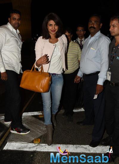 Priyanka Leaves For 'Quantico' Launch