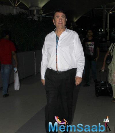 Randhir Kapoor Spotted At Mumbai Domestic Airport