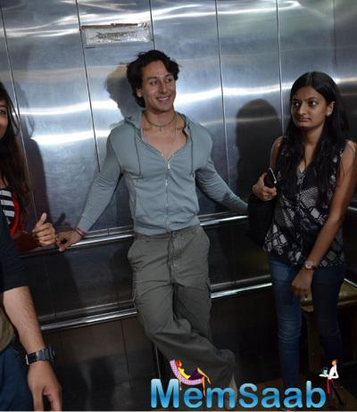Tiger Shroff At 93.5 Red FM For Promoting Music Video Zindagi Aa Raha Hu Main
