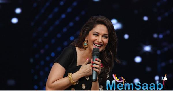 Madhuri Dixit Spotted At DID Super Moms To Inspire Moms And Promote Her Online Dance Academy