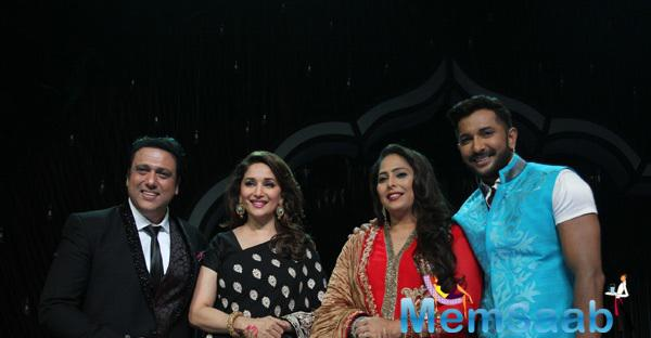 Madhuri Dixit Was Clicked On The Sets Of Dance India Dance Super Moms With Judges