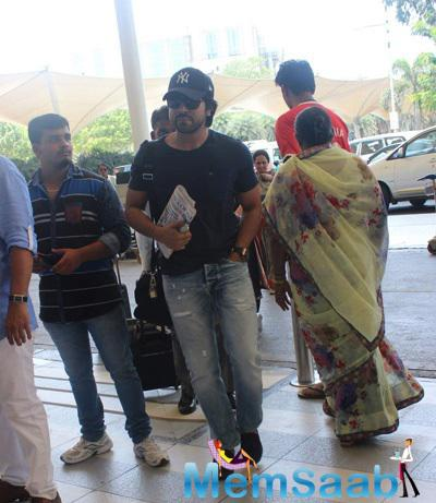 Ram Charan Snapped At Mumbai Airport