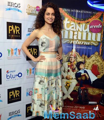 Kangana Ranaut Very Excited For her Upcoming Flick Tanu Weds Manu Returns