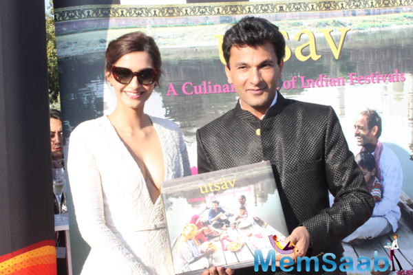 Sonam Launches Vikas Khanna's Book At Cannes