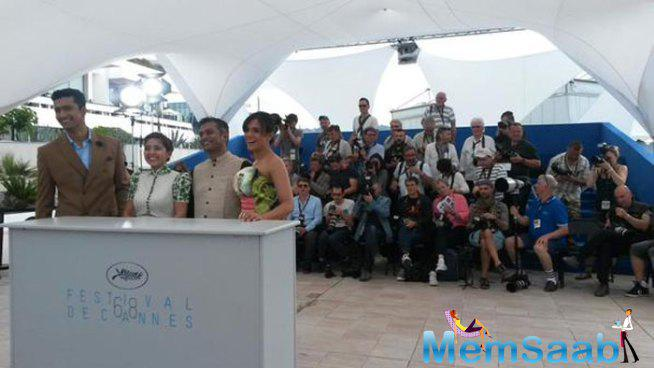 Richa Chadha And Her Team At Cannes To Promote Their New Film Masaan