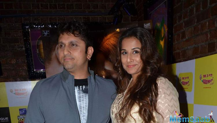 Vidya Balan And Mohit Suri Pose During The Music Launch Of Hamari Adhuri Kahani