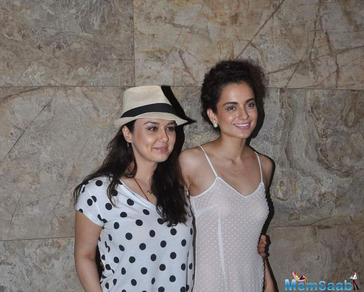 Preity Zinta Made It A Point To Attend The Screening.