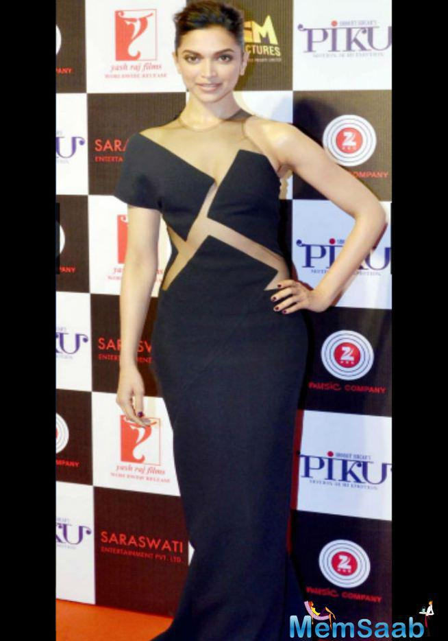 The Actress Recently Rocked The Bun Look With A Very Classy Black Sheer Cutout Dress For An Event