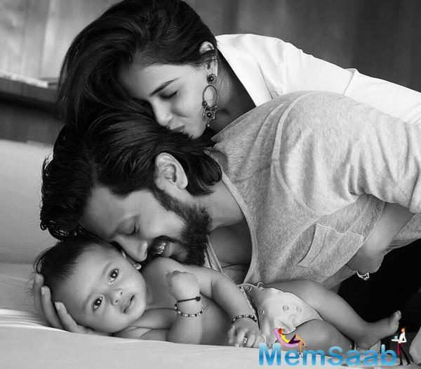 Riteish Deshmukh Posted A Really Cute Picture Of Him Kissing His Six-Month-Old Son Riaan
