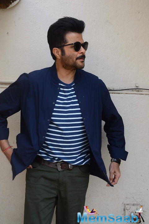 Anil Kapoor Strike A Pose For Shutterbugs At The Photo Shoot Of Dil Dhadakne Do