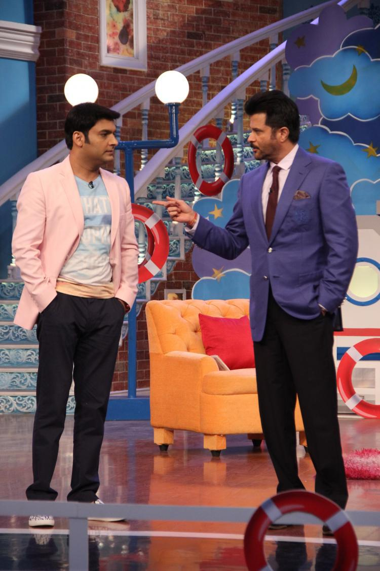 Anil Gossip And Fun With Kapil During His Movie Promotion