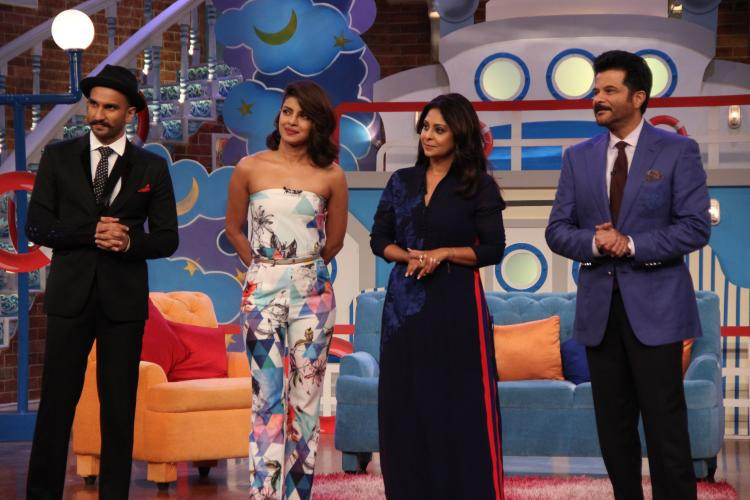 Ranveer,Priyanka And Anil Interacting With Audiance On Comedy Nights With Kapil