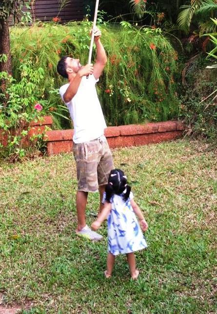 Akshay Kumar Plucks Mangoes For Daughter Nitara