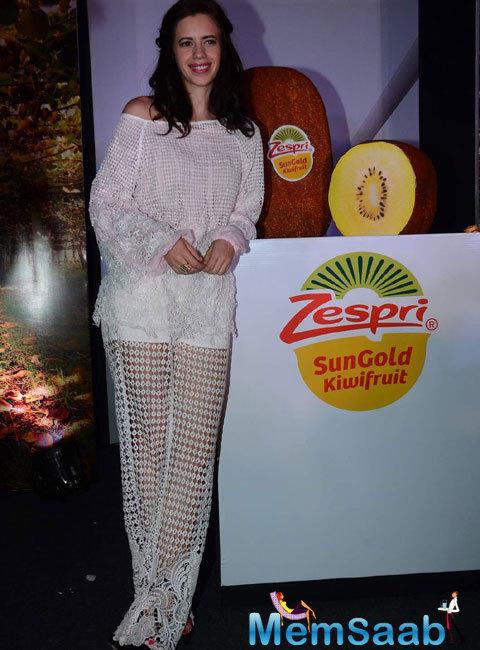 Kalki Koechlin Unveils The Zespri Sungold Kiwifruit