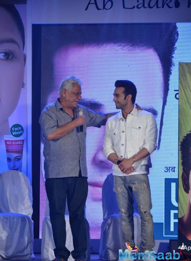 Pulkit Samrat And Om Puri At The Launch Of 'U B Fair' Fairness Cream