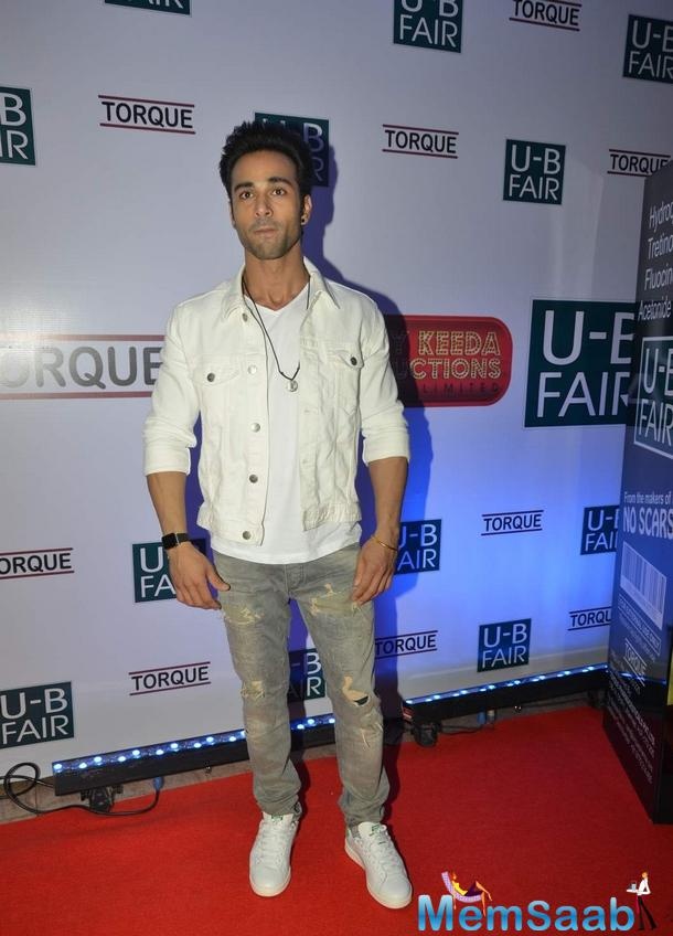 Pulkit Samrat Spotted At The Launch Of 'U B Fair' Fairness Cream