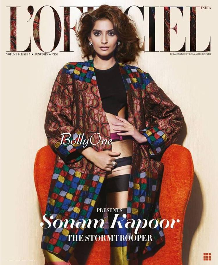 Sonam Kapoor L'Officiel India June 2015 Cover Amazing Pic