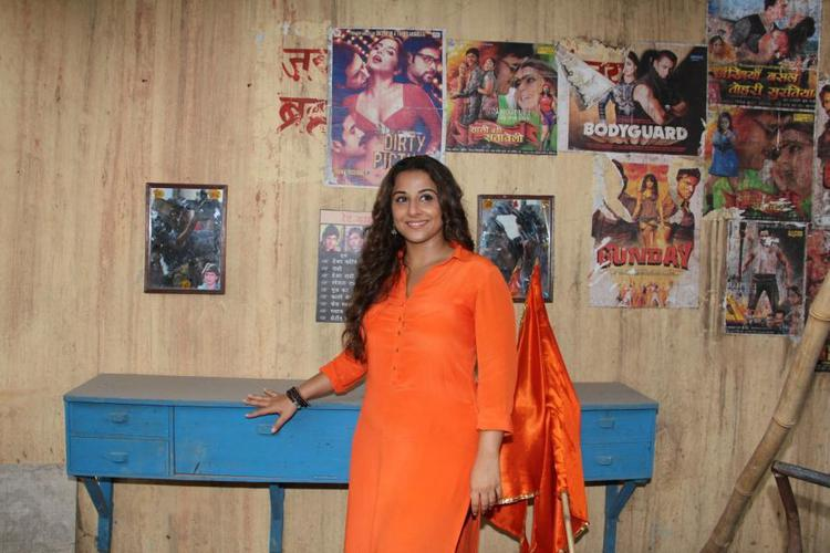 Vidya Balan During The Promotion Of Hamari Adhuri Kahani On The Sets Of Tere Sheher Mein