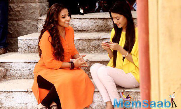 Vidya Balan At Integration Shoot With TV Serial Tere Sheher Mein And Hamari Adhuri Kahaani