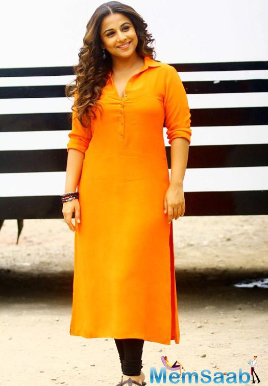 Vidya Balan Stunning Look During The Promotion Of Hamari Adhuri Kahani On The Sets Of Tere Sheher Mein