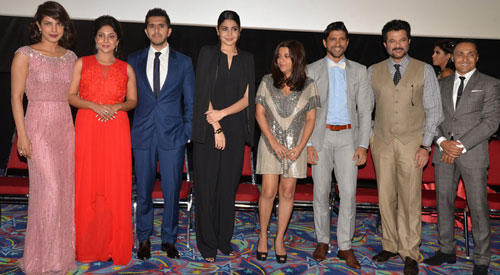 Team 'Dil Dhadakne Do' At A Press Conference At IIFA 2015