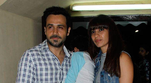 Emran Hashmi Catches Screening Of 'Hamari Adhuri Kahani' With Wife And Son