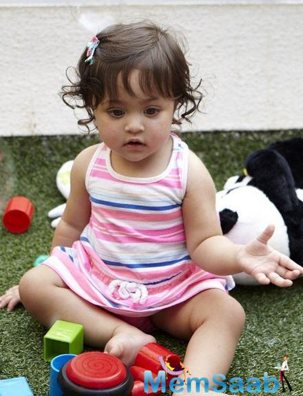 Imara Looks So Cute While She Play With Her Toys