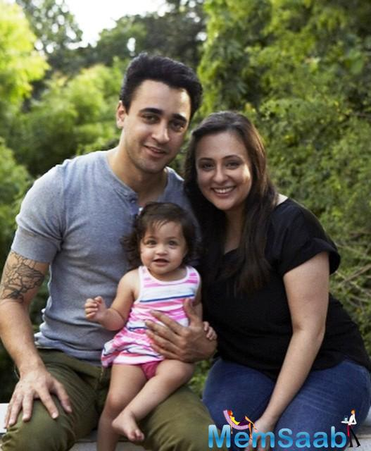 A Perfect Family Snap Of Imran,Avantika And Their Daughter Imara