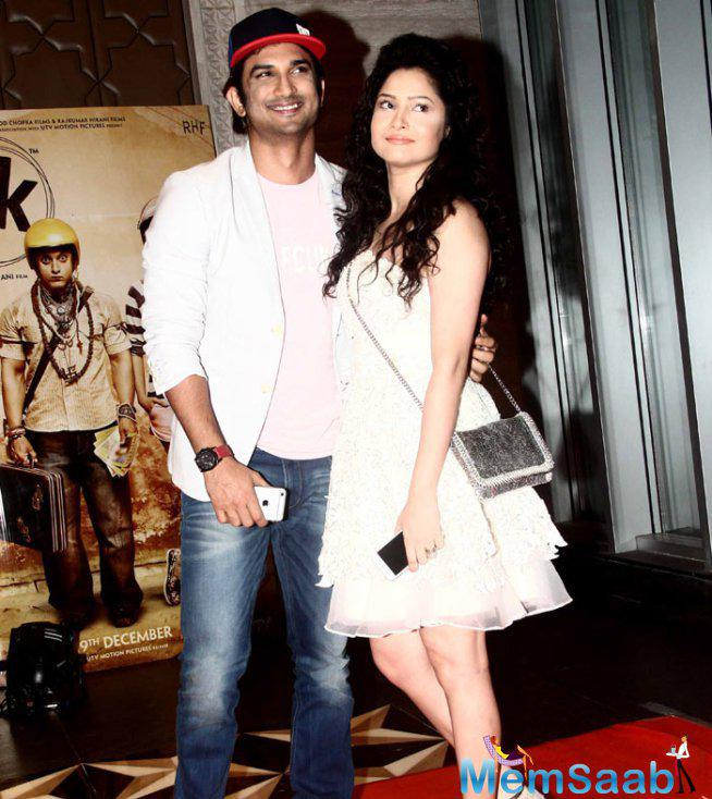 Lovebird Sushant And Ankita Snapped For PK Success Bash