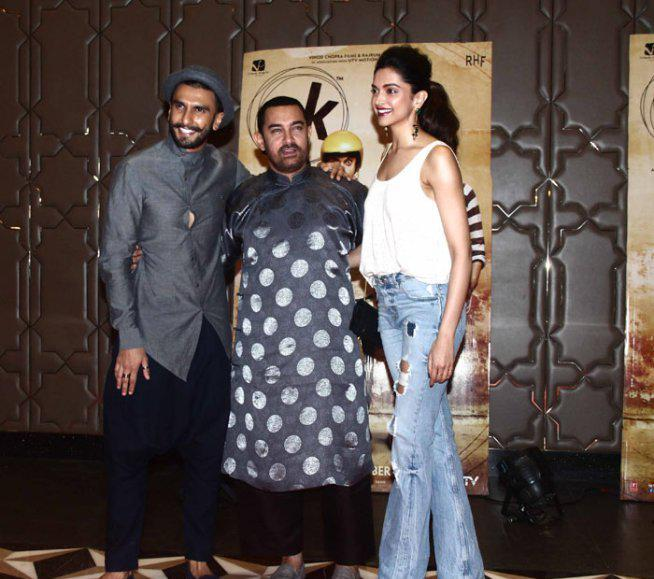 Rumoured Couple Deepika And Ranveer Also Attended The PK Success Bash