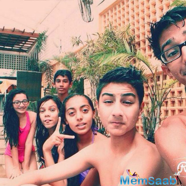 Ibrahim Enjoying Moment With His Friends At A Pool-Party